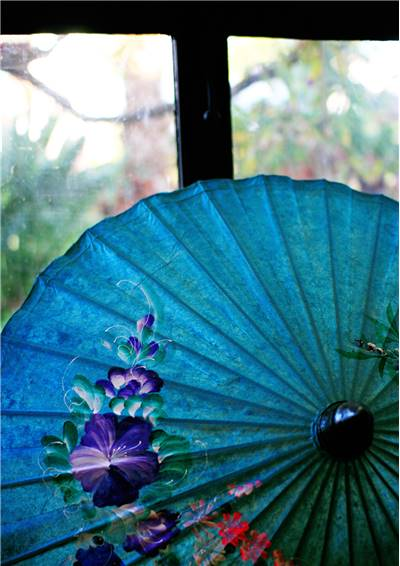 Old Blue Umbrella/Parasol
